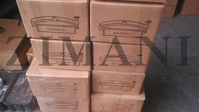 Sanitary manways packaging