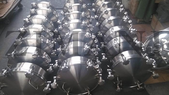 Stainless steel sanitary manways circular pressure