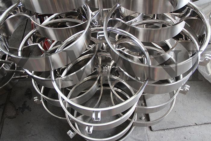 Sanitary round manways parts